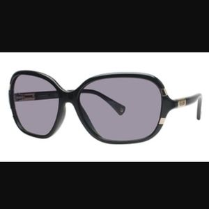 Coach Sienna black with gold accents sunglasses